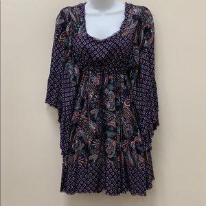 NWT Beautiful Navy Print Dress/Tunic